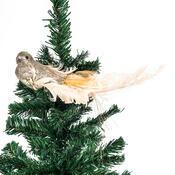Vánoční dekorace zlatý ptáček s klipsem