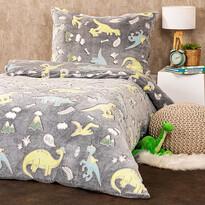 Lenjerie de pat luminoasă 4Home Dino, microflanelă, 140 x 200 cm, 70 x 90 cm