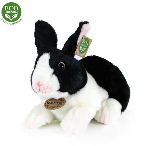 Rappa Plyšový králík černobílá, 24 cm