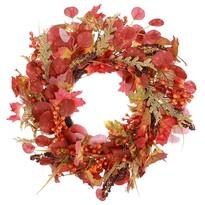 Podzimní věnec s listy a bobulemi, pr. 50 cm