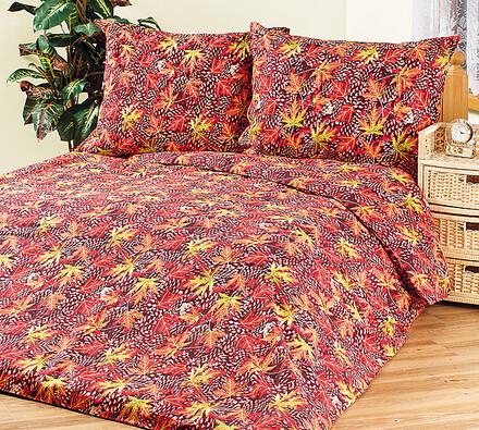 4Home bavlněné povlečení Podzimní listí, 140 x 200 cm, 70 x 90 cm