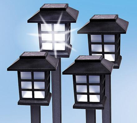 Solární lampy, sada 4 ks, 38 cm