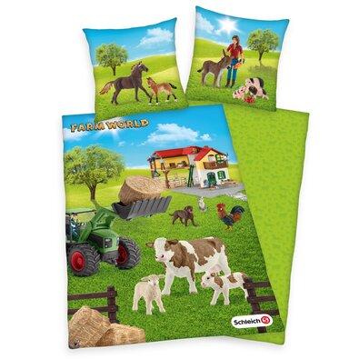 Farm World pamut gyermekágynemű, 140 x 200 cm, 70 x 90 cm