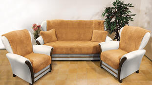 4Home Přehozy na sedací soupravu Beránek hnědá, 150 x 200 cm, 2 ks 65 x 150 cm
