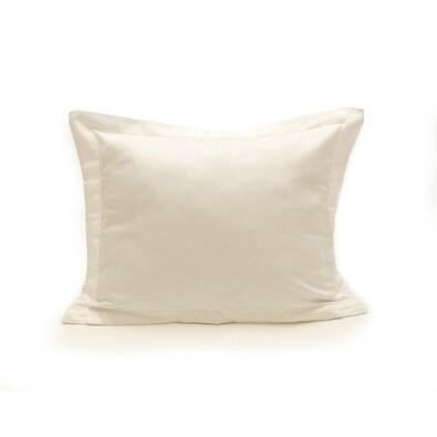 Povlak na polštářek s lemem satén bílá, 50 x 70 cm