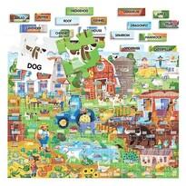 Headu Puzzle Easy English Na farme, 108 dielikov