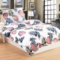 Lenjerie de pat din micro-pluș Monstera, 140 x 200 cm, 70 x 90 cm
