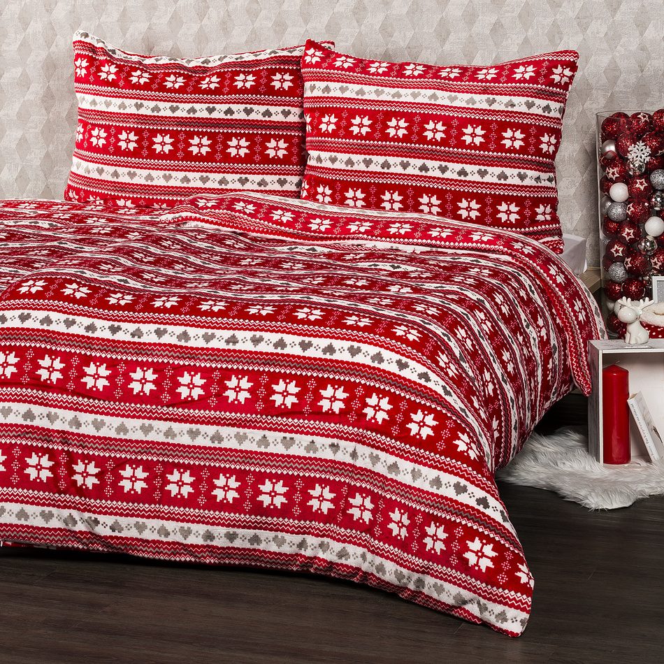 4Home obliečky mikroflanel Zimný sen, 160 x 200 cm, 2x 70 x 80 cm, 160 x 200 cm, 2 ks 70 x 80 cm