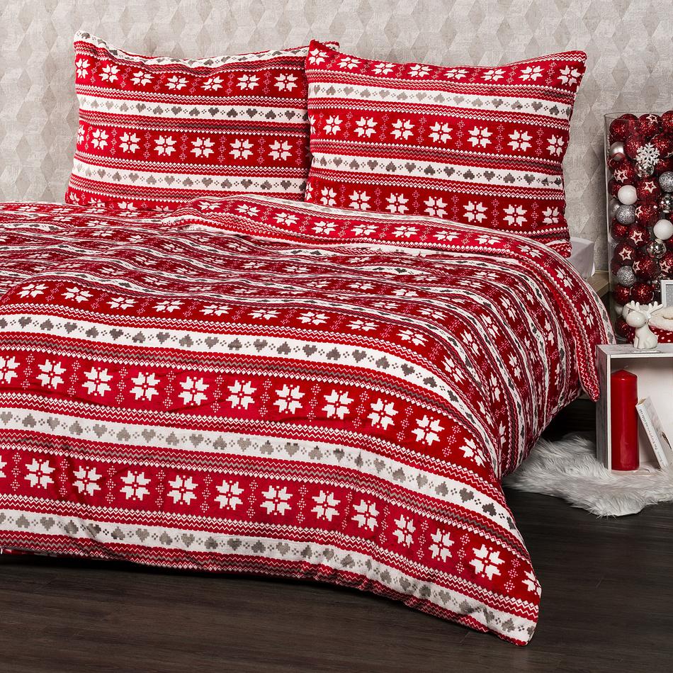 4Home Vánoční povlečení mikroflanel Zimní sen, 140 x 220 cm, 70 x 90 cm, 140 x 220 cm, 70 x 90 cm