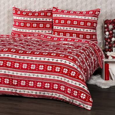 4Home Vánoční povlečení mikroflanel Zimní sen, 160 x 200 cm, 2x 70 x 80 cm