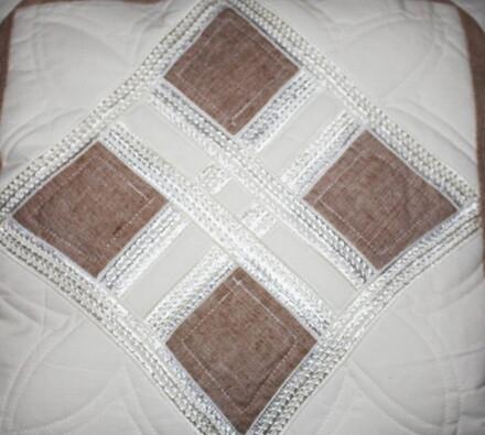 Bavlněný povlak na polštářek, hnědá