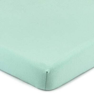 Cearşaf 4Home Jersey, cu elastan, verde, 160 x 200 cm
