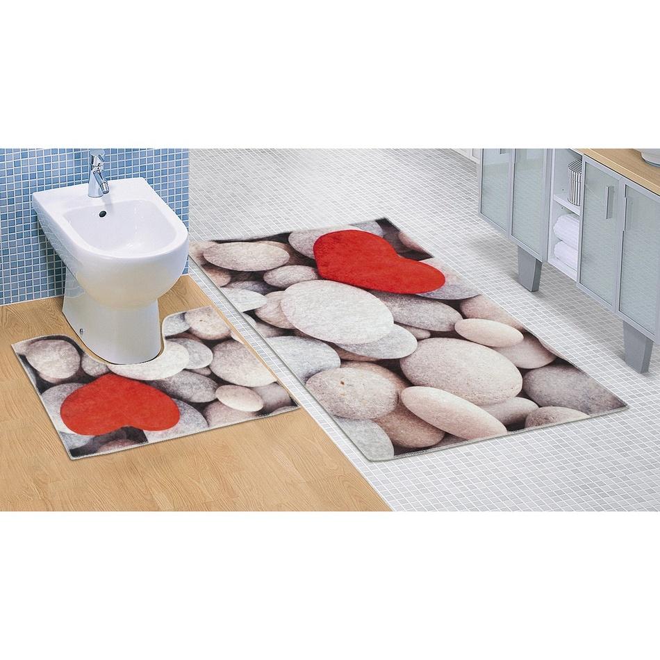 Bellatex Koupelnová předložka Světlé kameny 3D, 60 x 100 + 60 x 50 cm