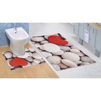 Világos kövek 3D fürdőszobaszőnyeg, 60 x 100 + 60 x 50 cm
