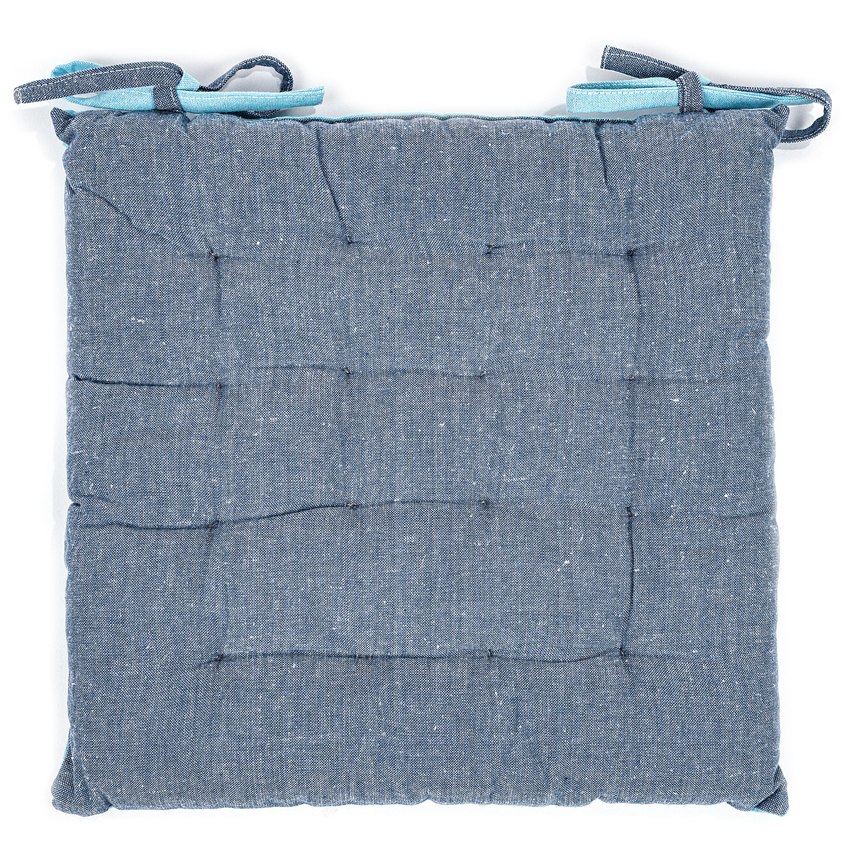 Trade Concept Prošívaný sedák Heda modrá, 40 x 40 cm