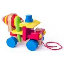 Woody fa összerakható játék betonkeverős autó
