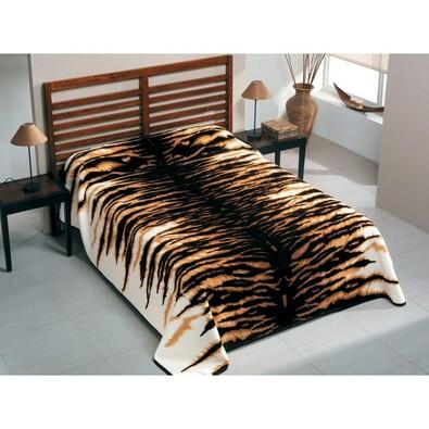 Španělská deka Piel Tygr, 220 x 240 cm