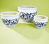 Květináče z keramiky, modrá