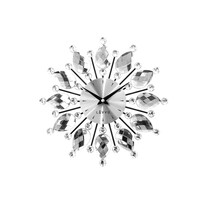 Ceas de perete Lavvu Crystal Flower LCT1120 argintiu, diam. 33 cm