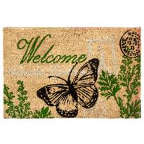 Kokosová rohožka Welcome motýl, 40 x 60 cm