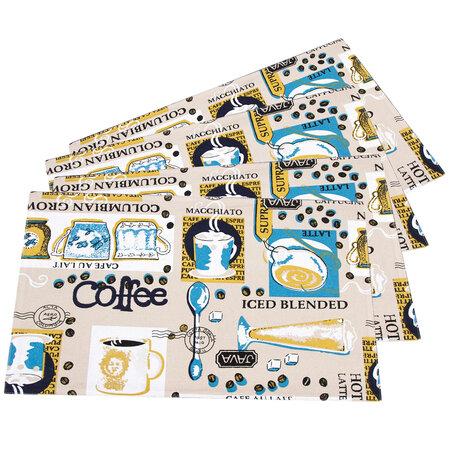 Prestieranie Coffee, 33 x 45 cm, sada 4 ks