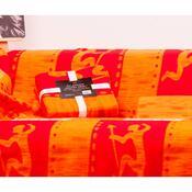 Deka Milutek Druk oranžovočervená, 150 x 200 cm