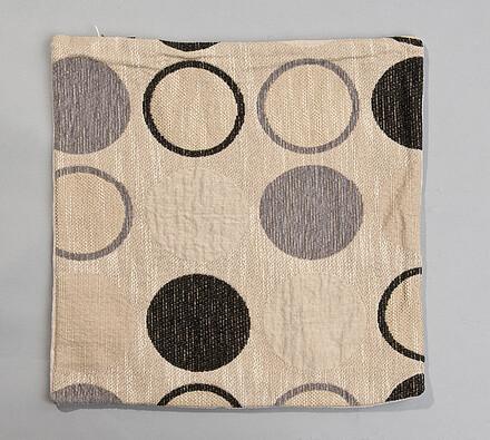 Povlak na polštářek Kruhy hnědý BO-MA, 43 x 43 cm, béžová + hnědá, 43 x 43 cm