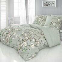 Tavasz szatén ágynemű, zöld