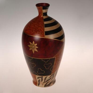 Váza keramická Safari 37 cm