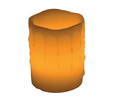 Solight Vosková LED svíčka s vůní skořice