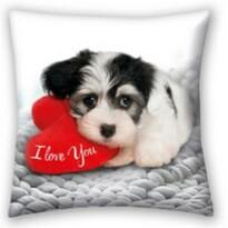 Polštářek Love Dog, 40 x 40 cm