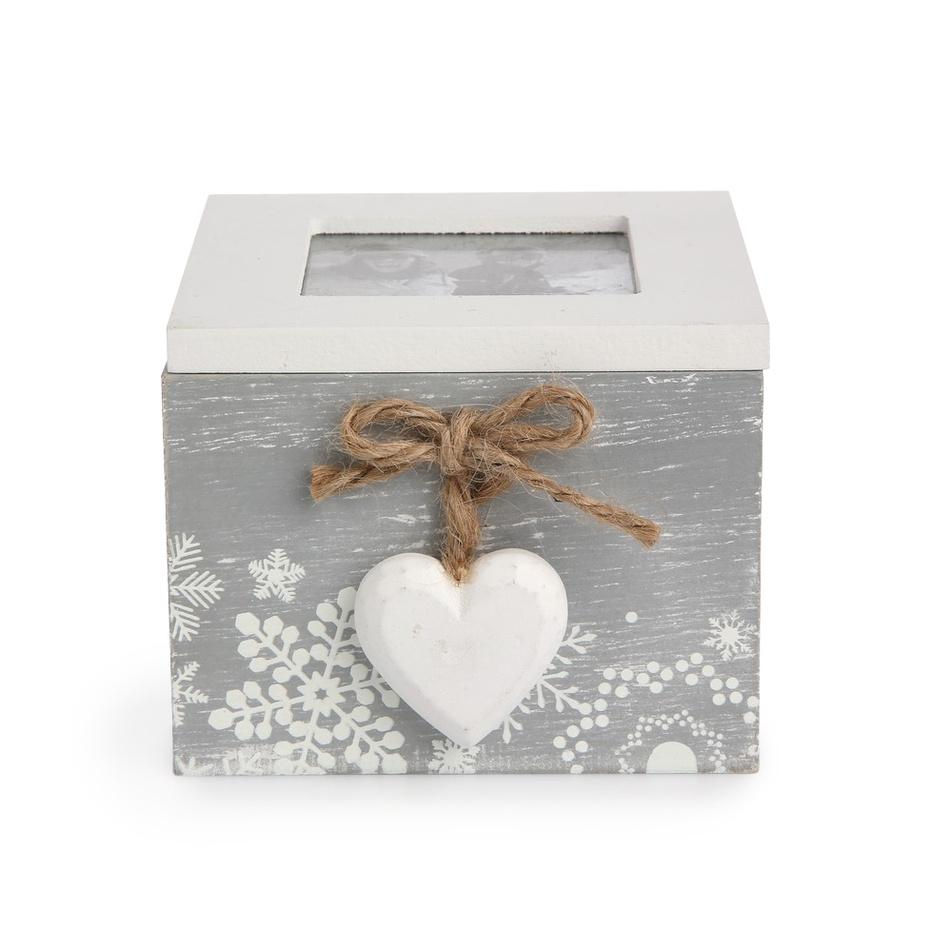 Altom Dekorační box Love Winter šedá, 10 x 11 cm