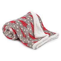 Pătură imitație blăniță Crăciun 4Home Cosy Winter, 150 x 200 cm