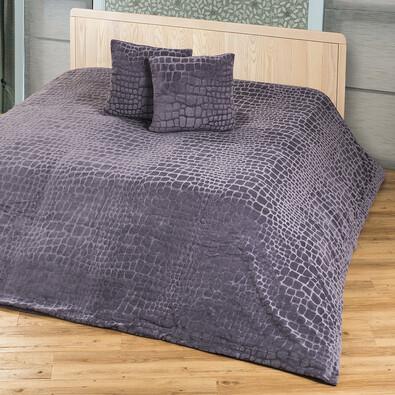 4Home přehoz na postel Imperial šedá, 220 x 240 cm, 2 ks 40 x 40 cm