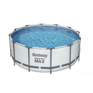 Bestway Nadzemní bazén Steel Pro MAX s filtrací, schůdky a plachtou, pr. 366 cm, v. 122 cm