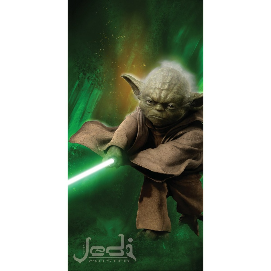 Jerry Fabrics Osuška Star Wars Yoda, 75 x 150 cm