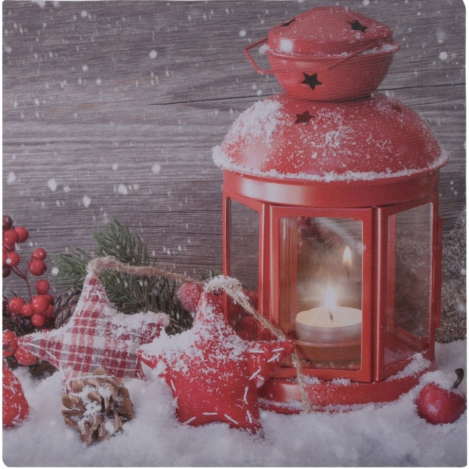 LED Obraz na plátně Lanterne rouge, 30 x 30 cm