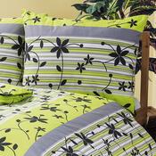 Bavlněné povlečení Liana zelená, 140 x 200 cm, 70 x 90 cm