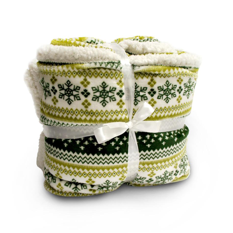 Jahu Beránková deka zelená,150 x 200 cm,