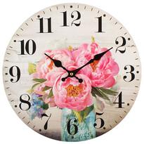 Nástěnné hodiny Pivoňka, pr. 34 cm