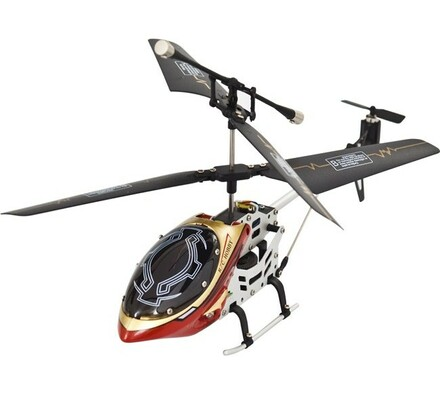 Vnitřní tříkanálový 19 cm vrtulník - červený, Budd, bílá + červená