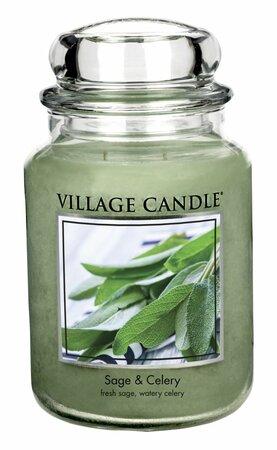 Village Candle Vonná sviečka Svieža šalvia - Sage Celery, 645 g