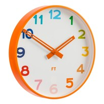 Future Time FT5010OR Rainbow orange Zegar ścienny dla dzieci, śr. 30 cm