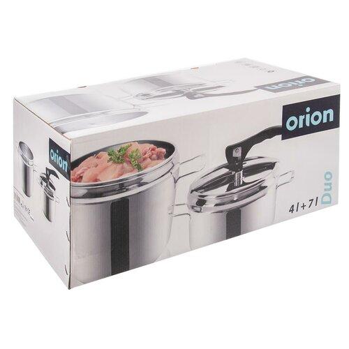 Oală sub presiune Orion Profi Duo, din inox, 7 l,4 l