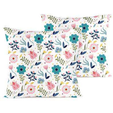 4home Obliečka na vankúšik Flowers, 2 ks 40 x 40 cm