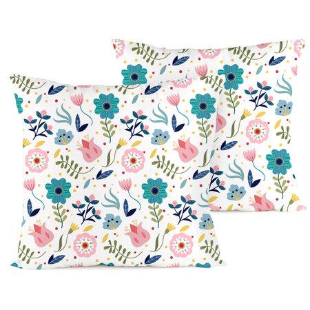 4home Povlak na polštářek Flowers, 40 x 40 cm, sada 2 ks