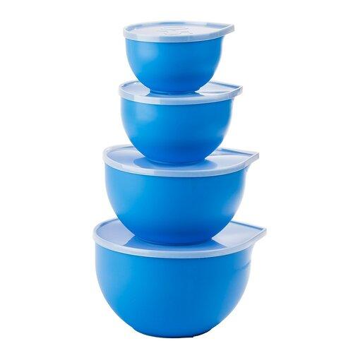 8dílná sada plastových misek s víkem
