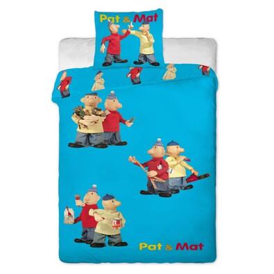 Dětské bavlněné povlečení Pat a Mat modrá, 140 x 200 cm, 70 x 90 cm