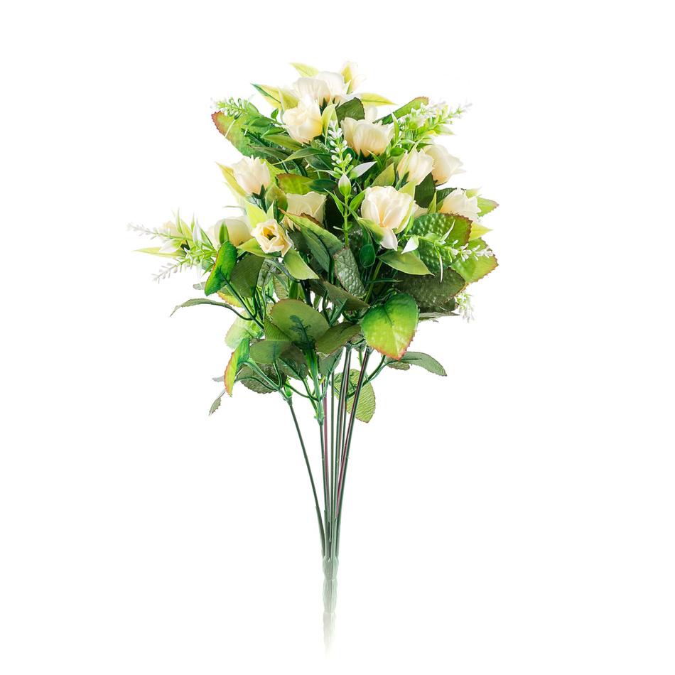 Umelá kytica Ruža, béžová X184/krém