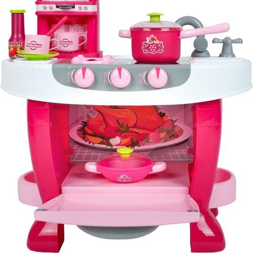 Bayo Detská kuchynka s dotykovým senzorom ružová, 70 x 51 x 30 cm